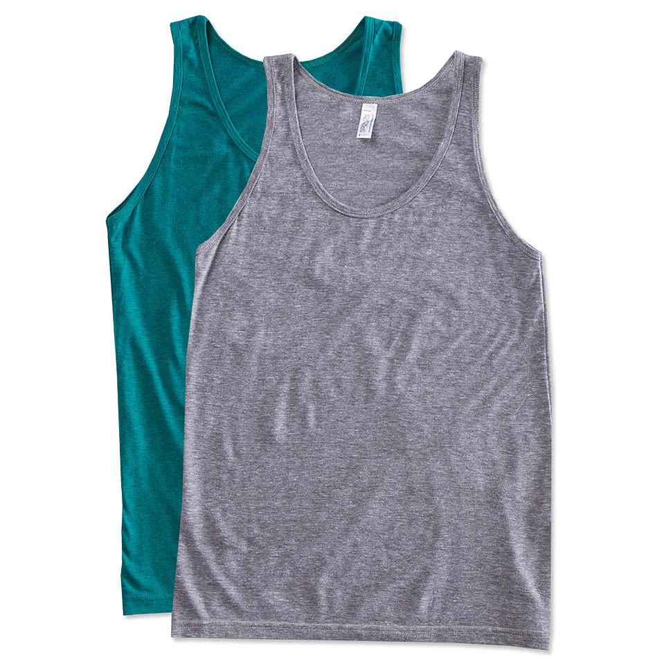 Custom canada american apparel tri blend tank design t for Custom t shirts canada no minimum