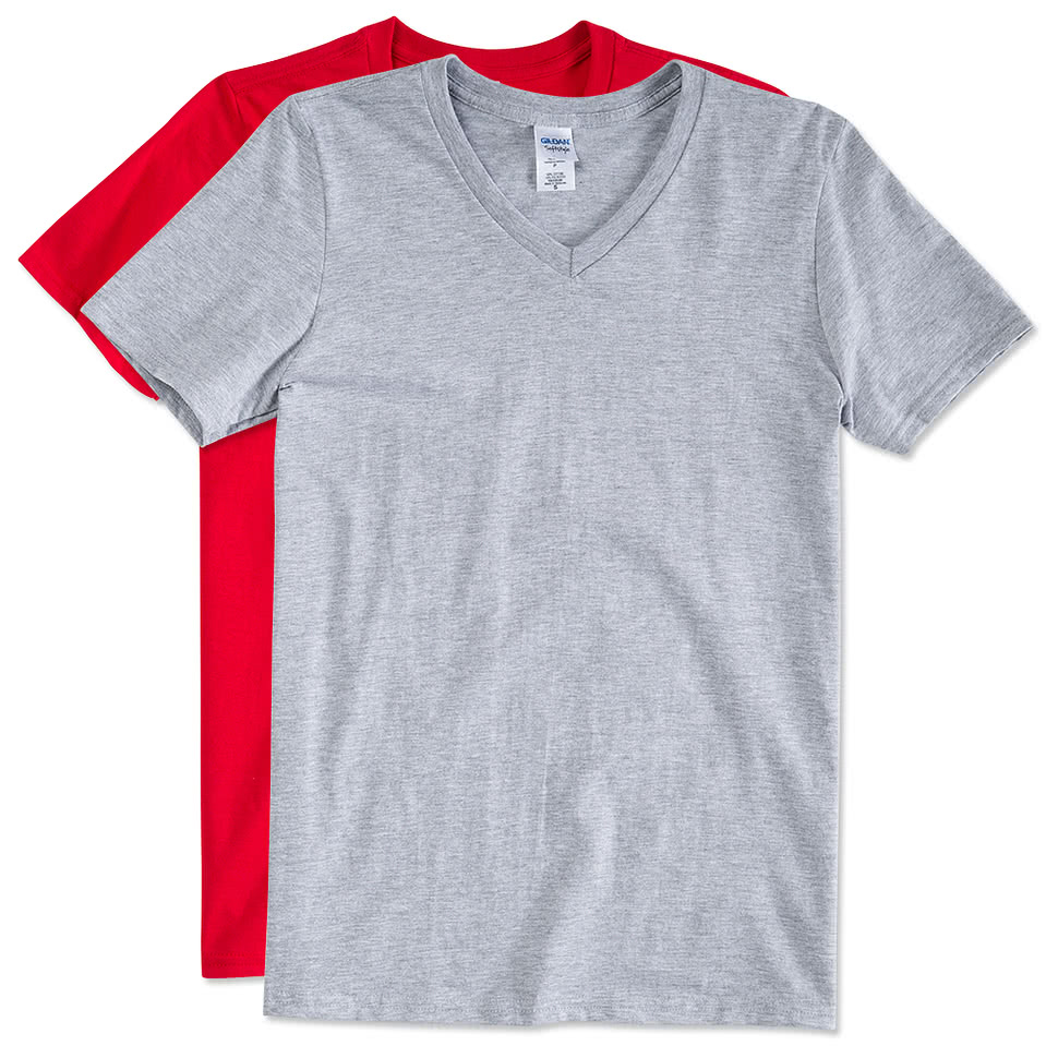Custom canada gildan softstyle jersey v neck t shirt for Gildan t shirts online
