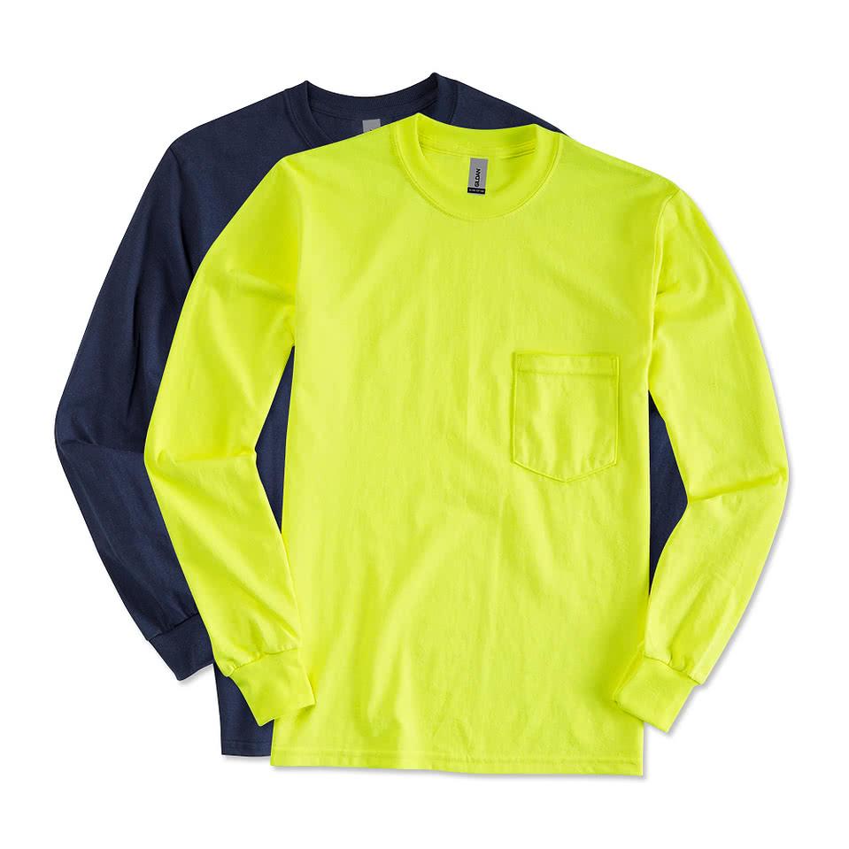 Design t shirt online canada - Custom Canada Gildan Ultra Cotton Long Sleeve Pocket T Shirt Design T Shirts Online At Customink Com