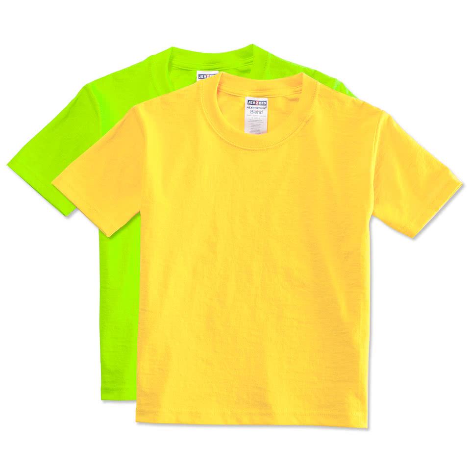 Custom canada jerzees youth 50 50 t shirt design for Custom t shirts canada no minimum