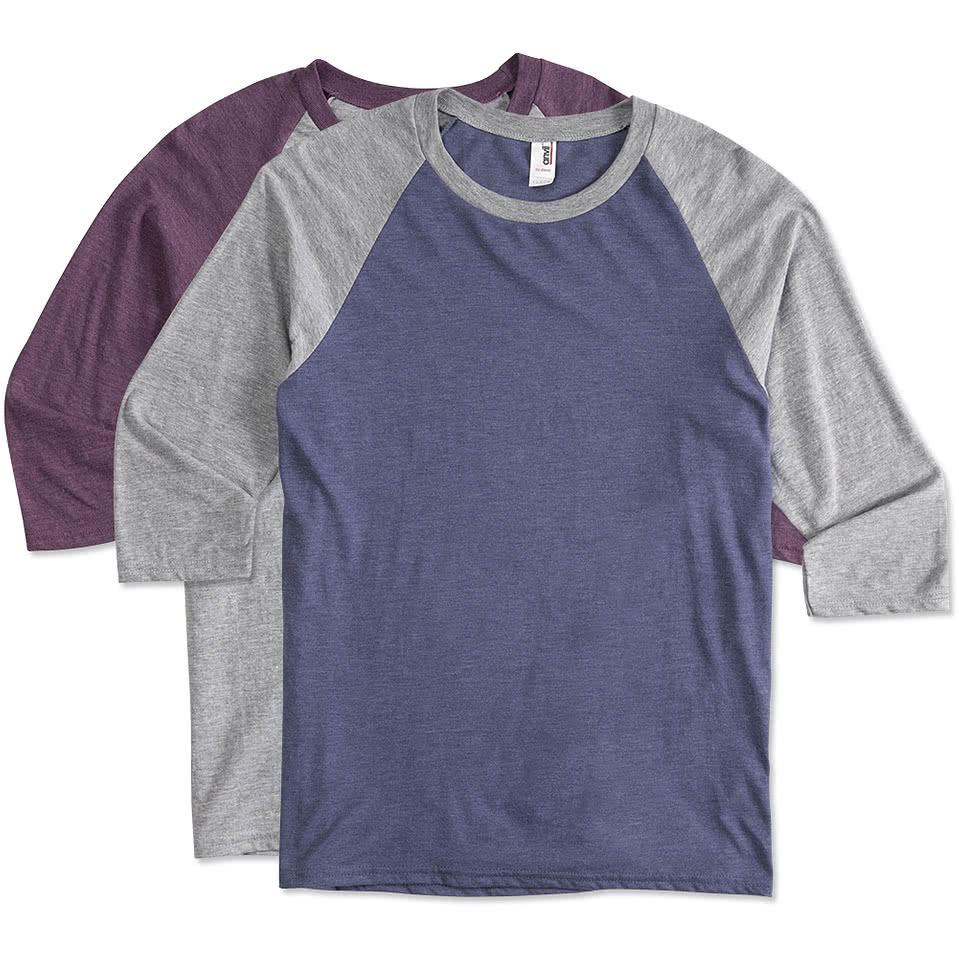 Design your own t-shirt arabic - Anvil Tri Blend Baseball Raglan