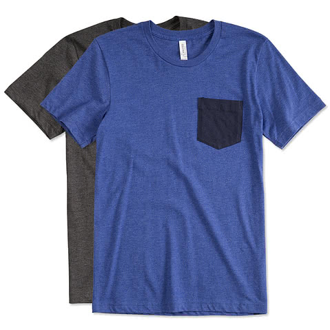 Canvas Jersey Contrast Pocket T-shirt