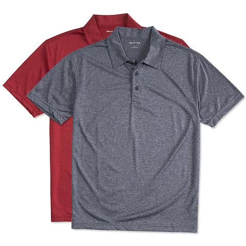 Sport-Tek Heather Performance Polo