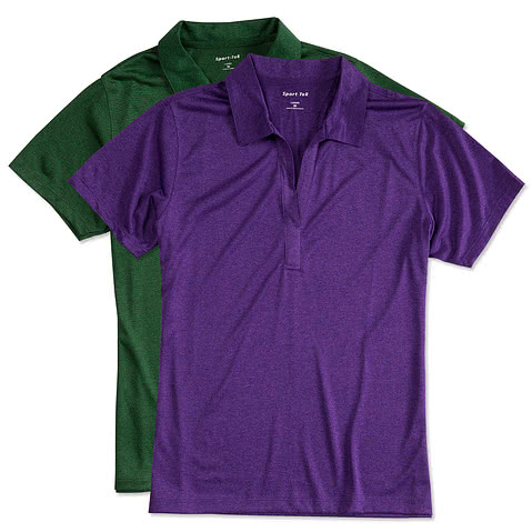 Sport-Tek Ladies Heather Performance Polo