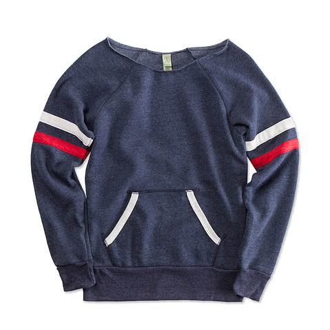 Canada - Alternative Apparel Juniors Tri-Blend Wideneck Sweatshirt
