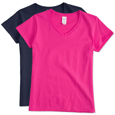 Canada - Gildan Ladies 100% Cotton V-Neck T-shirt