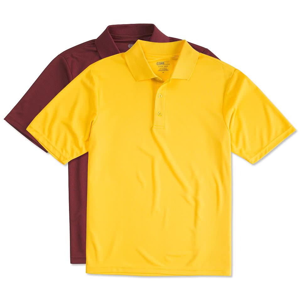 Custom canada core 365 performance polo design polos for Custom t shirts canada no minimum