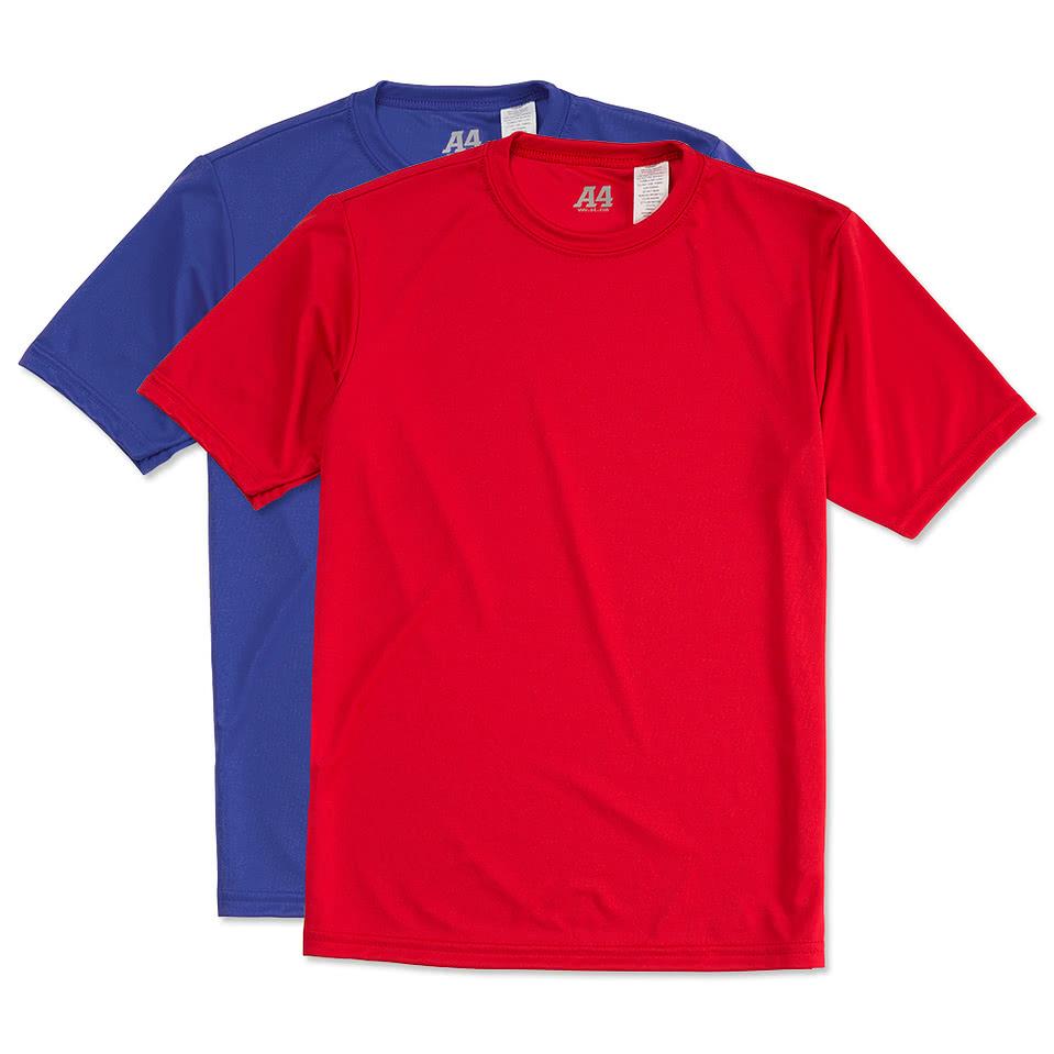 Custom a4 youth promotional performance shirt design for Custom t shirts canada no minimum