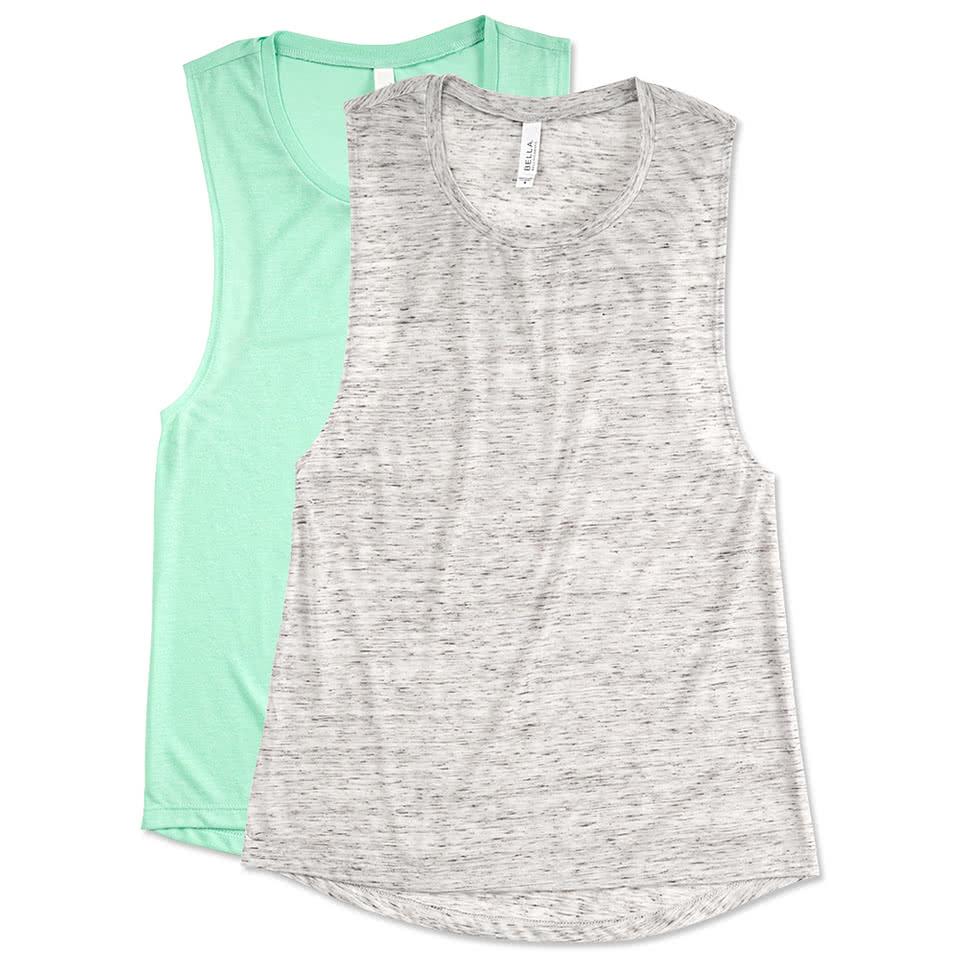 Custom Bella Ladies Flowy Muscle Tank - Design Ladies Short Sleeve ...