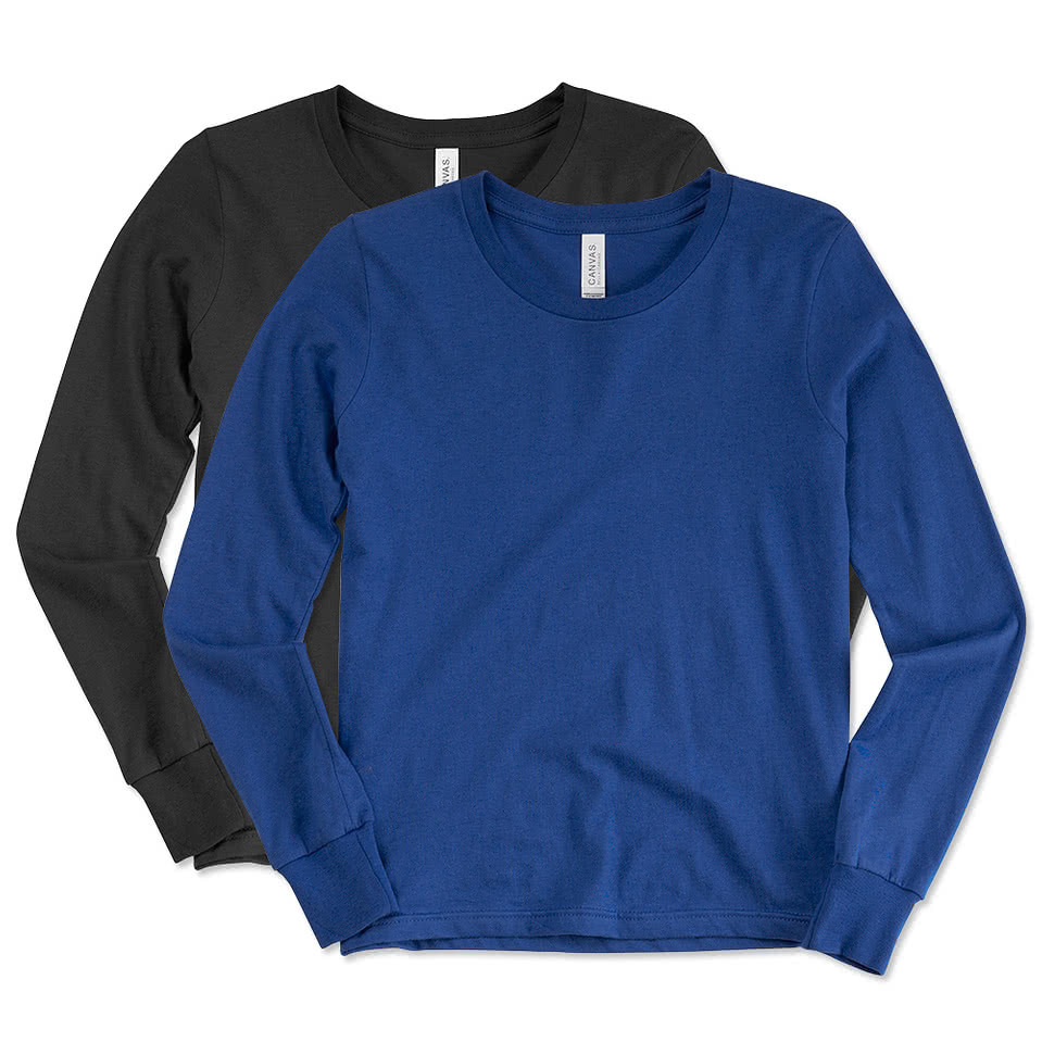 Shirt design on sleeve - Canvas Youth Long Sleeve Jersey T Shirt