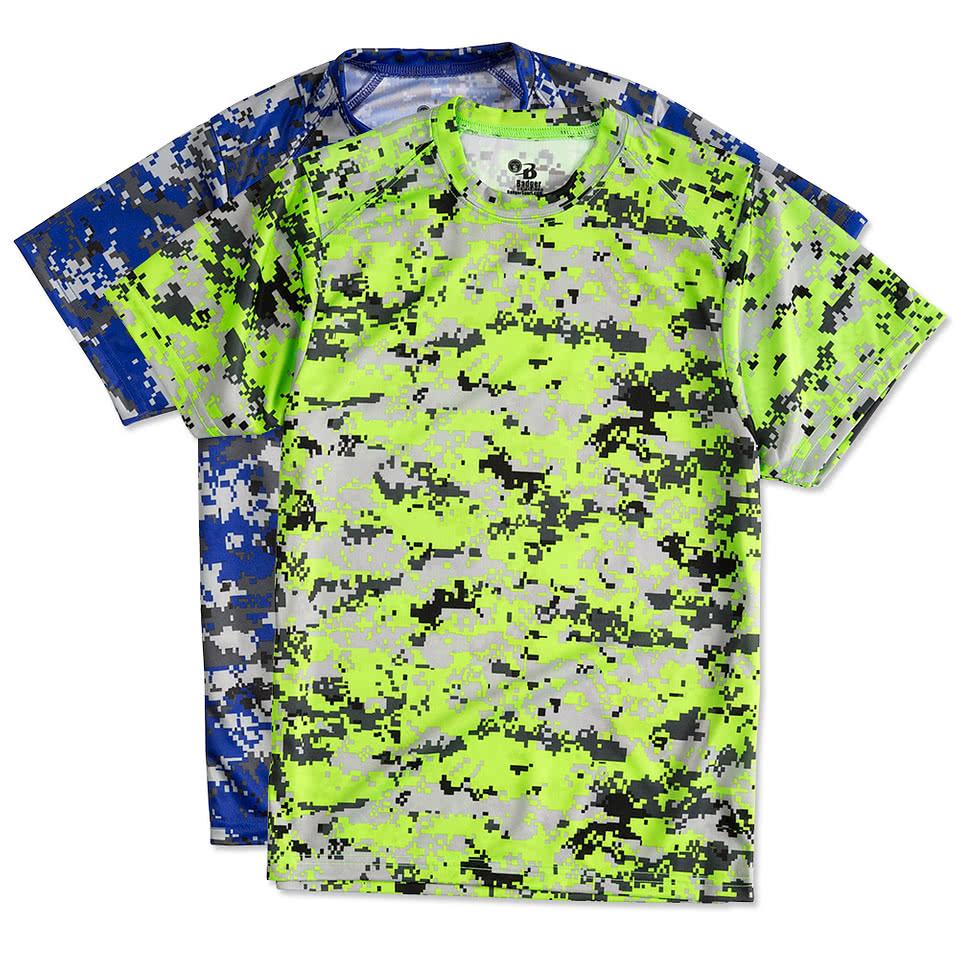 Custom Badger Youth Digital Camo Performance Shirt