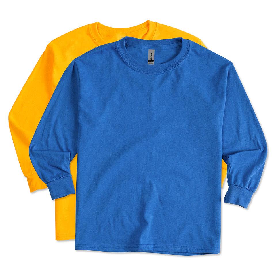 Shirt design gildan - Gildan Youth 100 Cotton Long Sleeve T Shirt