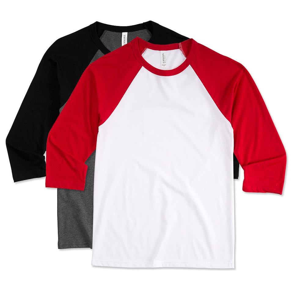 Shirt design maker canada - Canada Canvas Lightweight Baseball Raglan