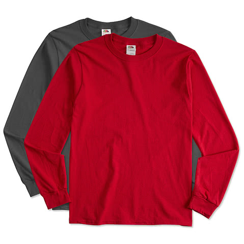 Fruit of the Loom 100% Cotton Long Sleeve T-shirt