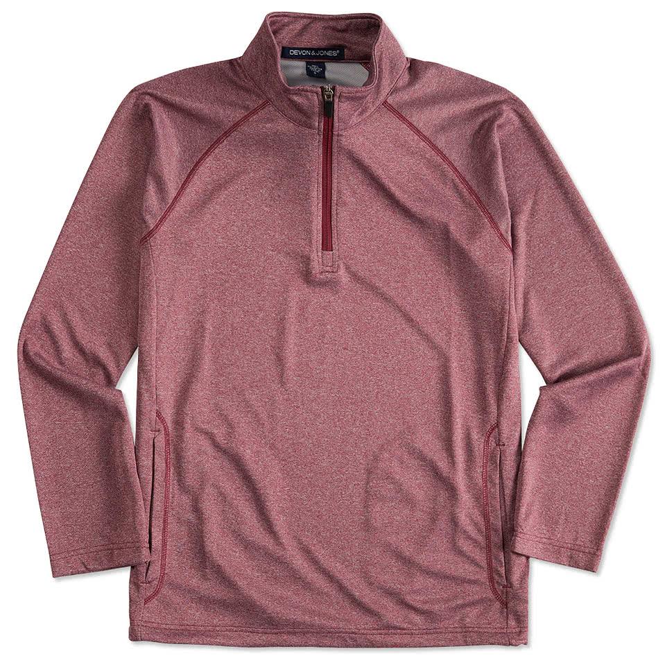 Design your own t-shirt keep calm - Devon Jones Heather Quarter Zip Performance Pullover