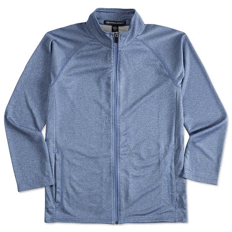 Devon & Jones Heather Performance Full-Zip