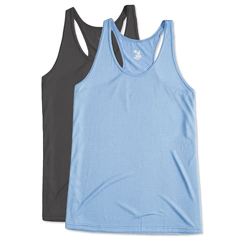 Badger Ladies Heather Performance Racerback Tank