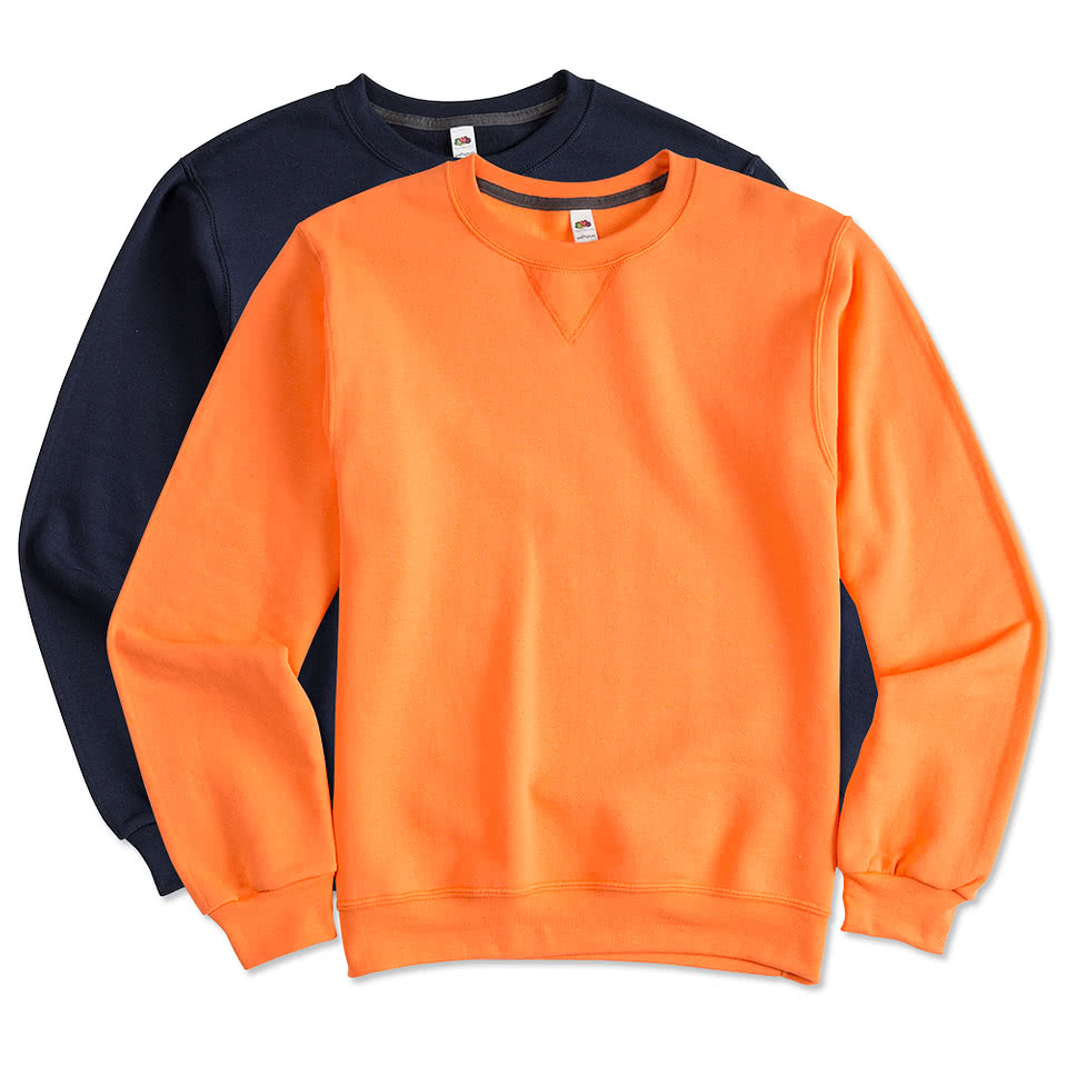 custom fruit of the loom sofspun crewneck sweatshirt design crewneck sweatshirts online at. Black Bedroom Furniture Sets. Home Design Ideas