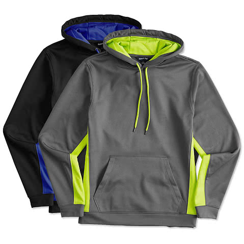 Sport-Tek Colorblock Performance Hooded Sweatshirt