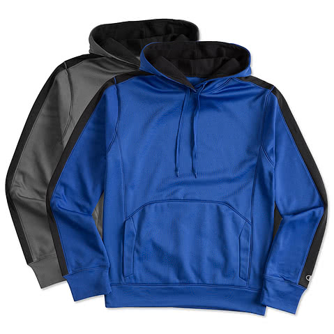 Champion Colorblock Performance Hooded Sweatshirt