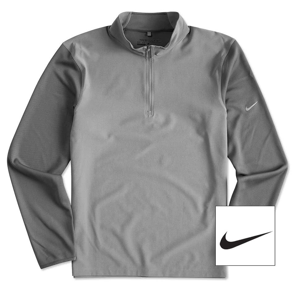 Custom Nike Golf Dri Fit Lightweight Quarter Zip Pullover