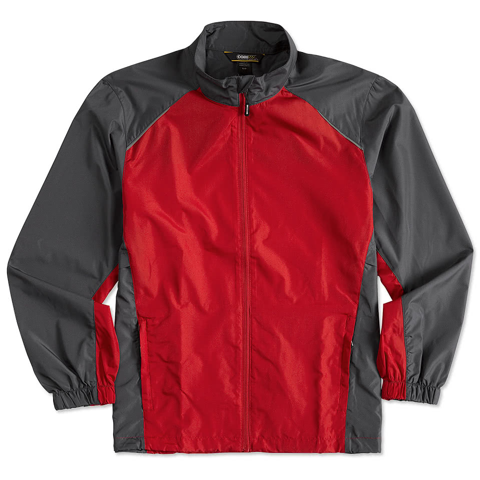 Custom Core 365 Colorblock Lightweight Full-Zip Jacket - Design