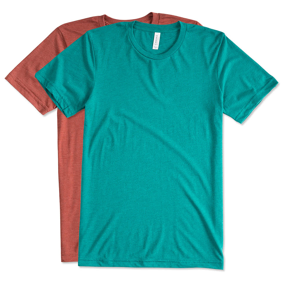 Custom canada canvas tri blend t shirt design t shirts for Custom t shirts online
