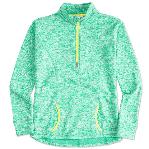 J. America Ladies Cosmic 1/4 Zip Performance Pullover