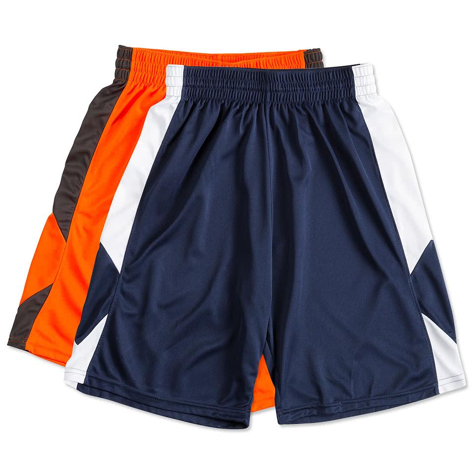 custom augusta colorblock basketball shorts design
