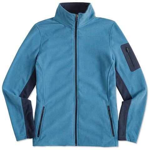 Port Authority Ladies Colorblock Full-Zip Microfleece Jacket