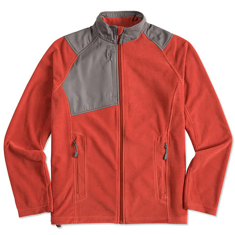 North End Colorblock Full-Zip Microfleece Jacket