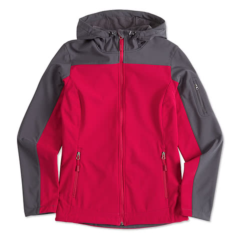Port Authority Ladies Contrast Hooded Soft Shell Jacket