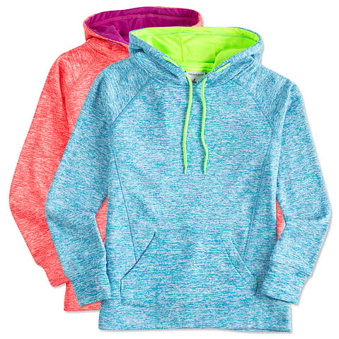J. America Ladies Cosmic Performance Hooded Sweatshirt