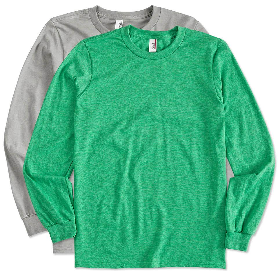 Custom anvil long sleeve jersey t shirt design long for Long sleeve custom t shirts
