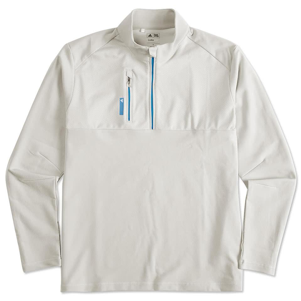 Adidas shirt design your own - Adidas Golf Contrast Quarter Zip Pullover