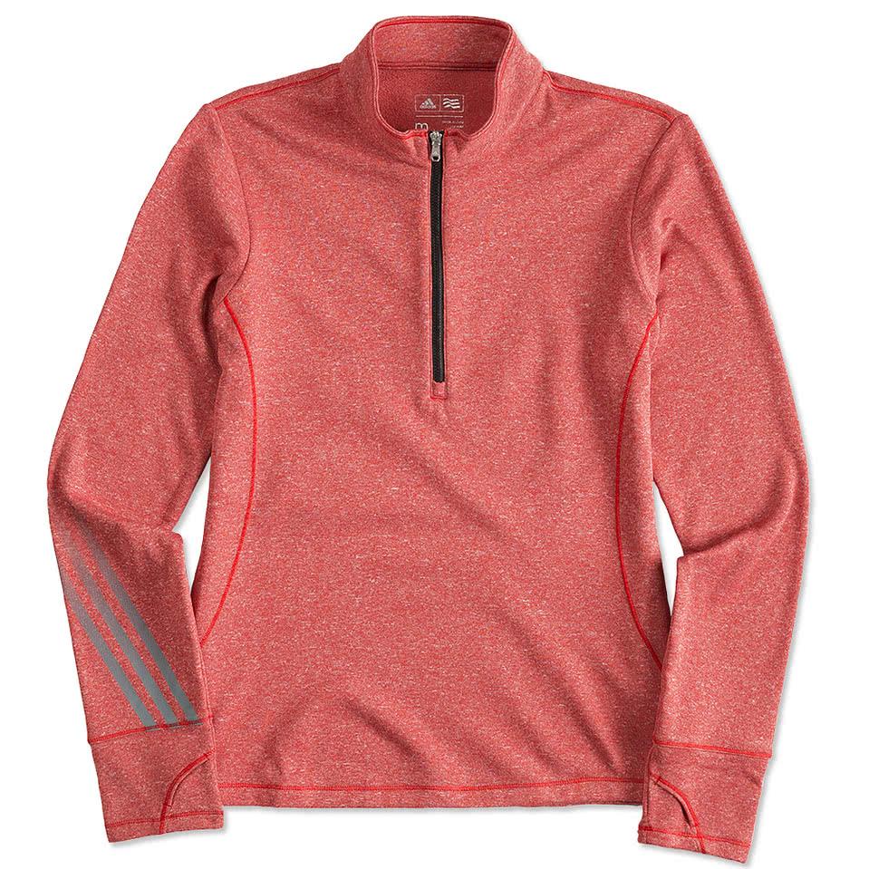 Adidas shirt design your own - Adidas Golf Ladies Brushed Heather Quarter Zip Pullover