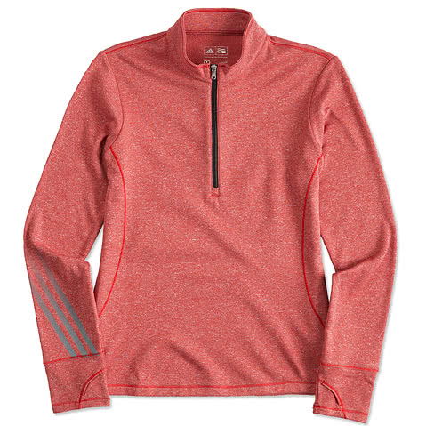 Adidas Golf Ladies Brushed Heather 1/4 Zip Pullover