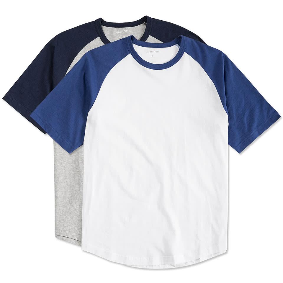 Custom sport tek short sleeve baseball raglan design for Custom baseball shirts no minimum