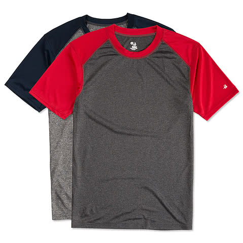 Badger Pro Heather Short Sleeve Baseball Raglan