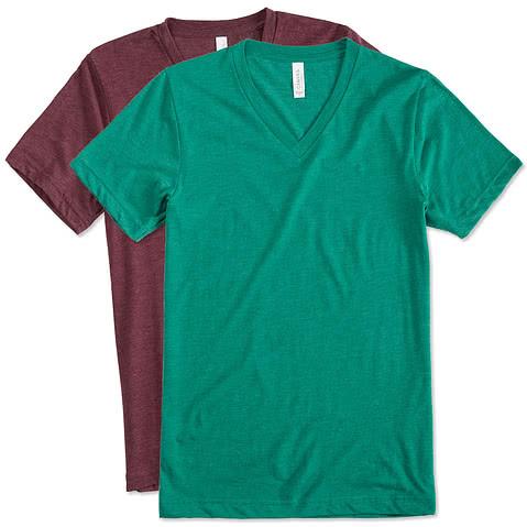 Bella + Canvas Tri-Blend V-Neck T-shirt
