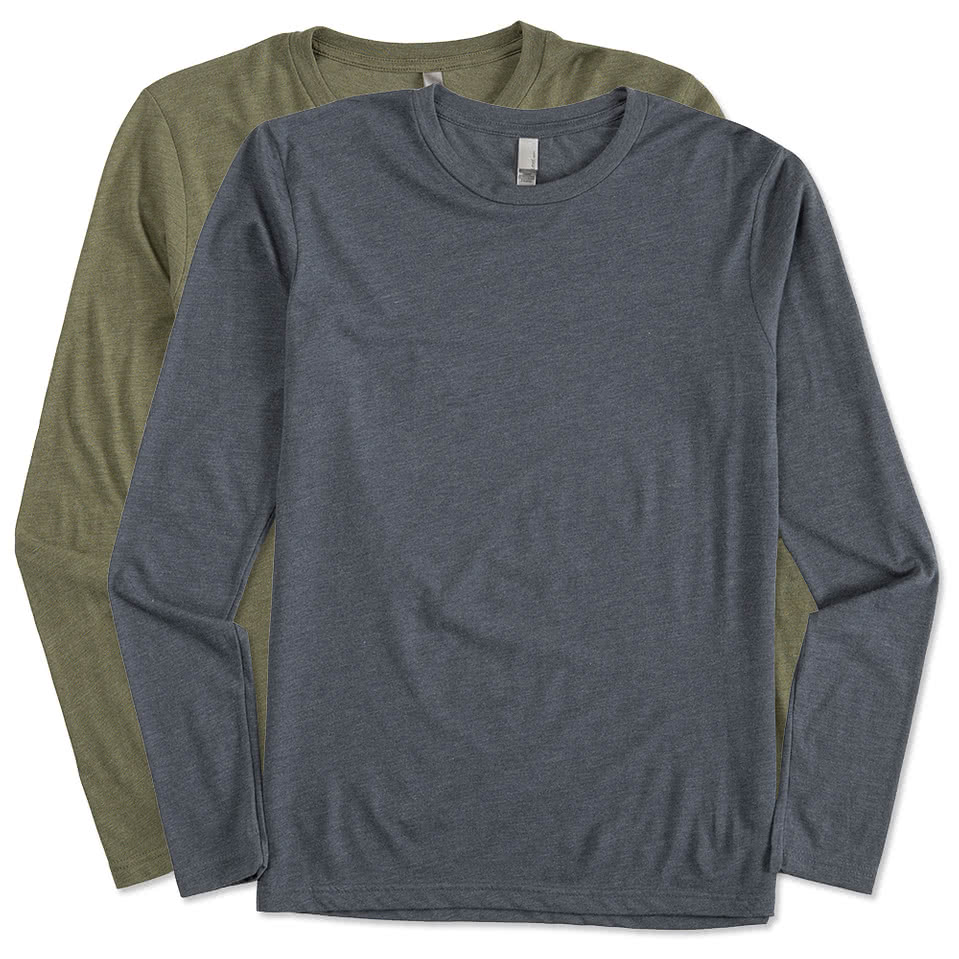 Custom next level tri blend long sleeve t shirt design for Long sleeve custom t shirts