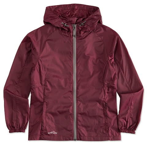 Eddie Bauer Ladies Full-Zip Hooded Packable Jacket