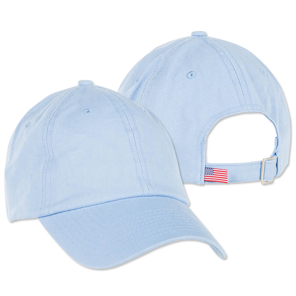 custom bayside cotton twill usa hat design baseball caps