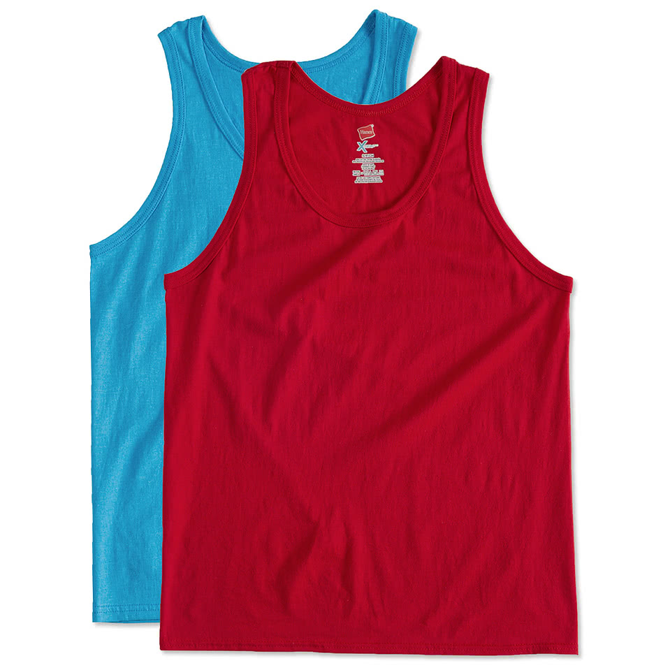 Custom hanes x temp tank design tank tops sleevelesses for T shirts online custom