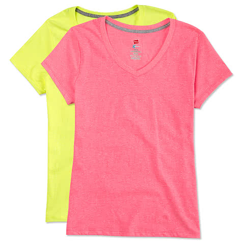 Hanes Ladies X-Temp V-Neck T-shirt