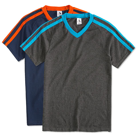Augusta Shoulder Stripe Jersey T-shirt
