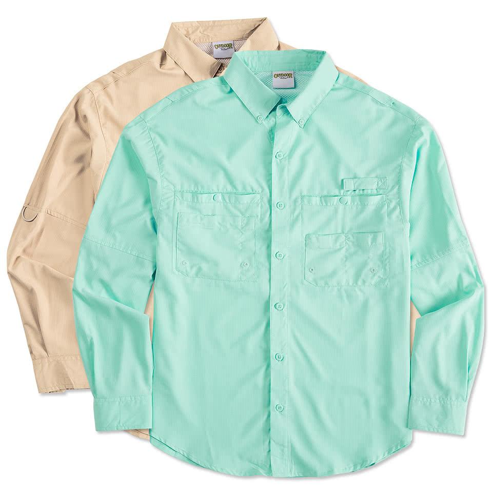 Custom hilton long sleeve performance fishing shirt for Long sleeve fishing shirts