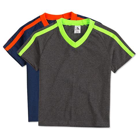 Augusta Youth Shoulder Stripe Jersey T-shirt