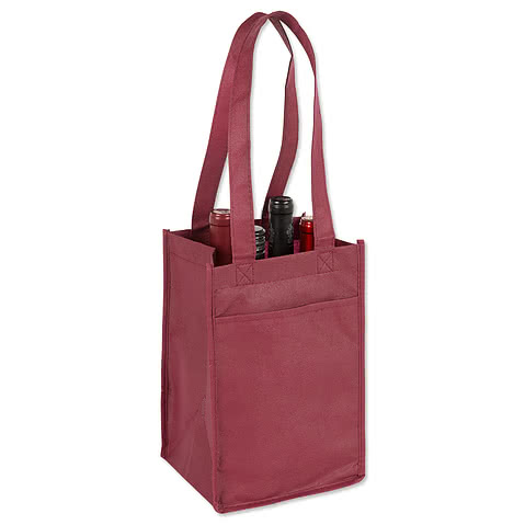 Four Bottle Non-Woven Wine Bag