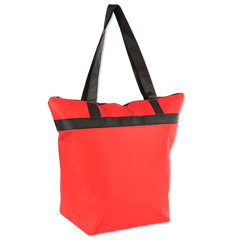 Basic Zippered Insulated Grocery Tote